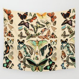 Papillon I Vintage French Butterfly Charts by Adolphe Millot Wall Tapestry