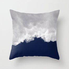 Rumble Blue Throw Pillow