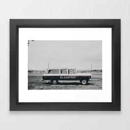 El Cosmico Car, Marfa TX Framed Art Print
