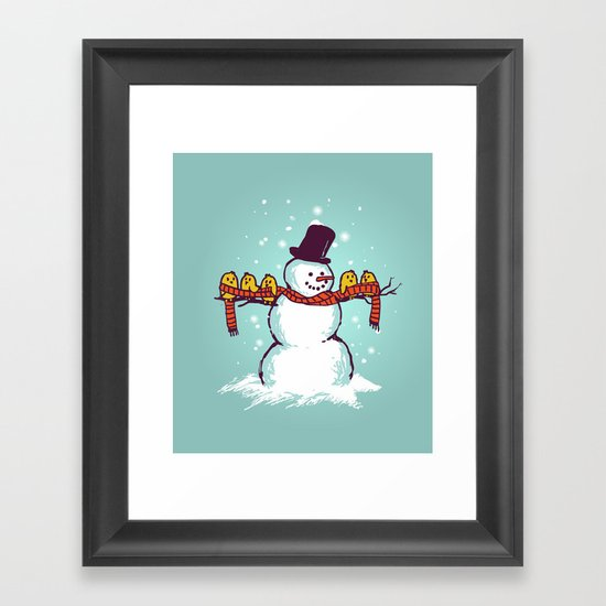 Sharing is caring (Winter edition) Framed Art Print