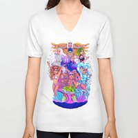 rave V-neck T-shirts featuring Farewell art RAVE by Helen Green