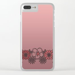 Kitschy Flower Medley Pink Clear iPhone Case