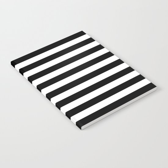 Horizontal Stripes (Black/White) Notebook