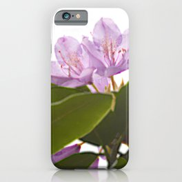 Pink Azalea Flowers with Spring Green Leaves iPhone Case
