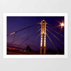 North Ave. Bridge Art Print
