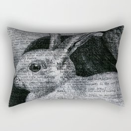 Dictionary Bunnies by Kathy Morton Stanion Rectangular Pillow