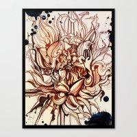 dahlia Canvas Prints featuring Dahlia by Irina Vinnik