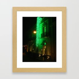 Green Cascade Framed Art Print