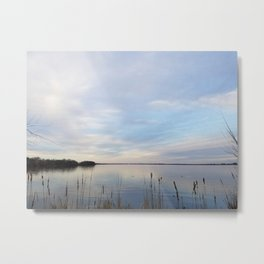 Twilight Serenity - Clouds and reflections on University Bay Metal Print