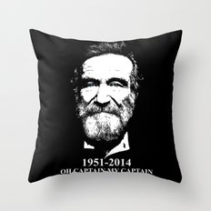 Oh Captain My Captain Throw Pillow