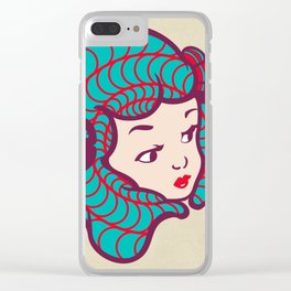 Girl Power Dynamite Laser Beam Clear iPhone Case