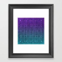 Pixel Patterns Green/Purple Framed Art Print