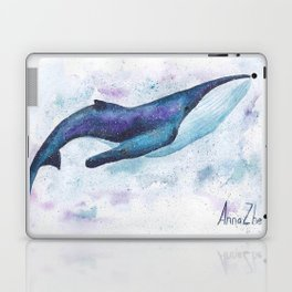 Big space whale illustration Laptop & iPad Skin