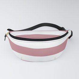 Pretty Pink Doll Bow and Wide White Cabana Stripes Fanny Pack