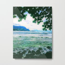 Love Hanalei Forever by Reay of Light Metal Print