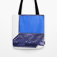 laptop Tote Bags featuring  Laptop  by Sofia Youshi