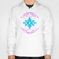 snowflake Hoodies featuring Snowflake by Blue Ivan
