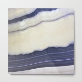 Striated Blue Geod Metal Print