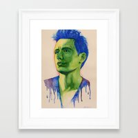 james franco Framed Art Prints featuring James Franco by Arch & Aya