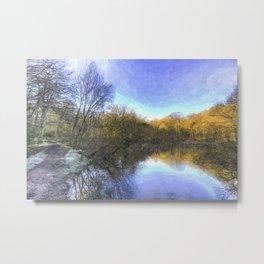 English Pond Art Metal Print
