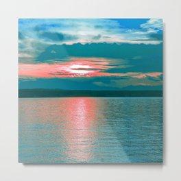 Sunset at Sea III Metal Print