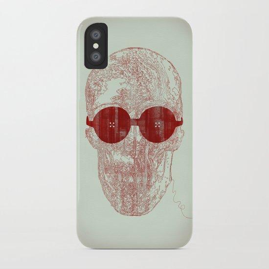 Unravel skull iPhone Case