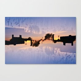 Factory and Reeds Canvas Print