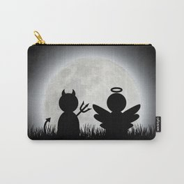 Angel and Devil Moon Meeting Carry-All Pouch