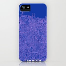 Jakarta, Indonesia street map iPhone Case