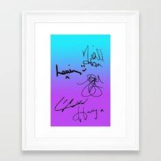 One Direction Signatures Framed Art Print