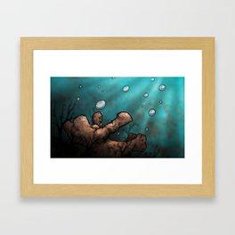 Lost Below Framed Art Print