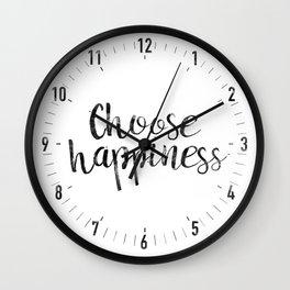 Choose Happiness Wall Clock