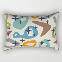 Retro Mid Century Modern Abstract Composition 926 Rectangular Pillow