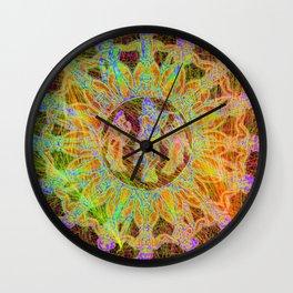 cosmic dance of krishna and his maidens Wall Clock