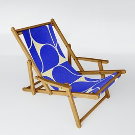 Blue mid-century shapes no8 Sling Chair