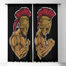 Spartan At The Gym | Training Fitness Muscles Power Blackout Curtain