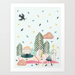 Mycomorphic world Art Print
