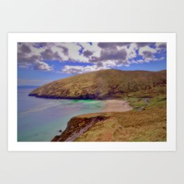 Magical Keem Beach Crowned by clouds from Heaven Art Print