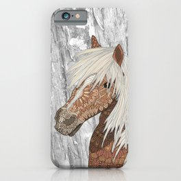 Haflinger Horse iPhone Case