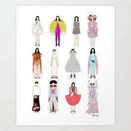 Outfits of Bjork Fashion Art Print