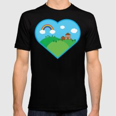 We Love This Place MEDIUM Mens Fitted Tee Black