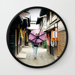 Geisha in Japan. Kyoto Wall Clock