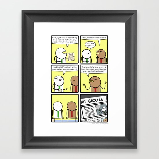 Antics #277 - getting in the way Framed Art Print