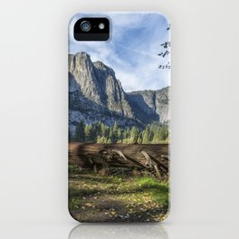 A Fallen Tree in Cook's Meadow iPhone Case