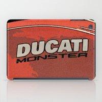 ducati iPad Cases featuring Ducati Monster tank 02 by Larsson Stevensem
