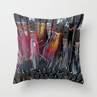 fishing Throw Pillows featuring Fishing by Mary Kilbreath
