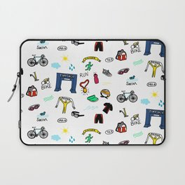 Triathlon Doodles Laptop Sleeve