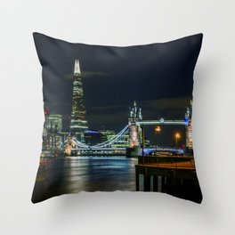 The Shard & Tower Bridge Throw Pillow