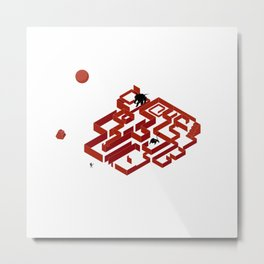 You Do Not Enter the Maze, the Maze Enters You Metal Print
