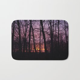 Sunrise Through the Trees   Bath Mat